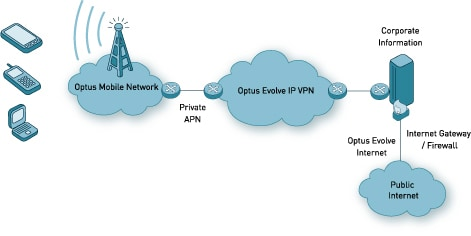 Wireless IP VPN (Evolve IP VPN solution)