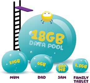 image showing how Data Pool works for your family