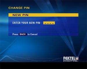 Image showing PIN change function
