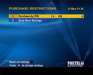 Image showing purchase restrictions menu