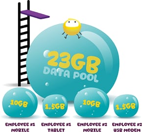 image showing how Data Pool works for your team
