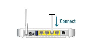 Connect to your home broadband modem