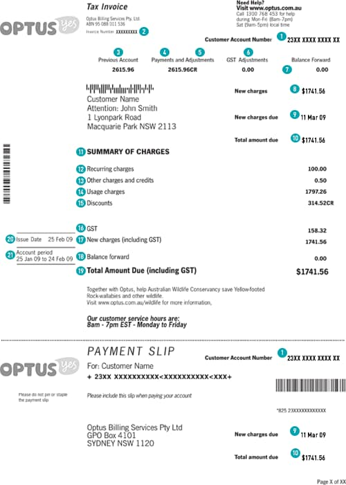 Bill Type - Invoice reference